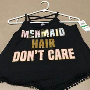 New mermaid hair dont care shirt large